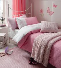 pink flutterbye girls bedding single double duvet pink polka dot
