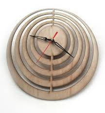 minimalist wall clock laser cut wall clock laser cutting wood clock modern design
