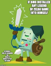 Legend Of Zelda Memes - bmo cosplaying link imgflip