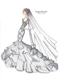 from sketch to gown wedding dress designer sketches by sareh nouri