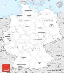 Map Of West Germany by Silver Style Simple Map Of Germany