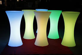 bar table rental outdoor 16 rgb colors changing waterproof rental led light up high