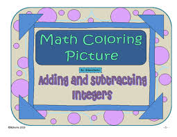 adding and subtracting integers coloring picture snake