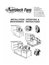 aerotech generic installation manual belt mechanical duct flow