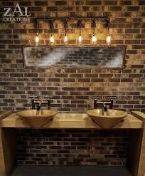 unique bathroom lighting ideas vanity light wall light bottles plumbing pipe bathroom