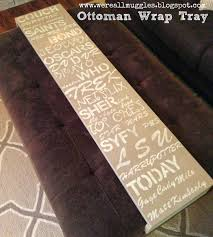 Ottoman Wrap Tray We Re All Muggles Wrap Around Ottoman Tray One Of My Favorite