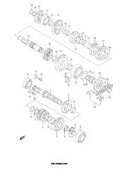 2001 suzuki rm125 rm125k1 transmission parts best oem