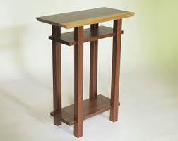 Nightstand With Shelves Small Narrow Nightstand Modern Wood Furniture Live Edge