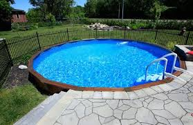 Above Ground Pool Patio Ideas Above Ground Pool Landscaping Ideas With Stone Floors Fence