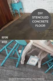 Diy Garage Floor Paint 25 Best Stencil Concrete Ideas On Pinterest Painting Concrete