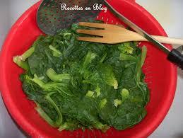 cuisiner epinard frais puree d epinards frais recettes en