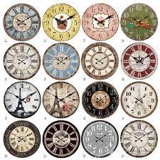 Wohnzimmer Uhren Wanduhr Wanduhr Uhren Dekouhr Vintage Holz 34cm Shabby Romantik Landhaus