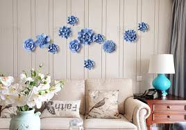 1 pc creative pastoral ceramic flower three dimensional wall