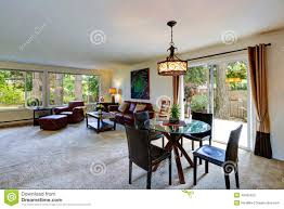 Interior Design Open Floor Plan House Interior With Open Floor Plan Living Room With Dining Area