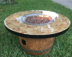 wine barrel fire table wine barrel fire pit etsy