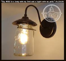 Wall Lighting Sconce Exterior Mason Jar Wall Sconce Light The Lamp Goods