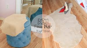 How To Make A Faux Fur Rug No Sew Faux Fur Throw Rug Youtube