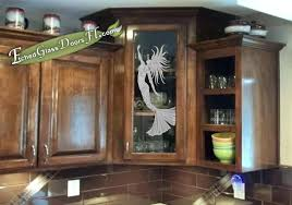 oak kitchen cabinets with glass doors kitchen cabinet glass door with a coastal mermaid design
