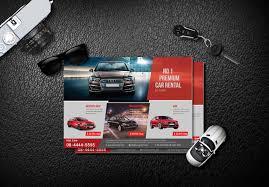 free creative car rental flyers psd templates