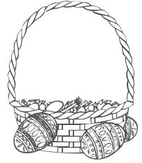 easter basket with eggs coloring page free easter coloring page free printable kids easter coloring pictures