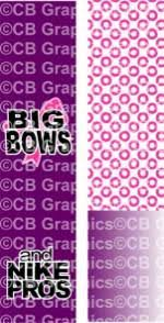 big bows nike pros sublimation ready cheer bow graphic cheer bow