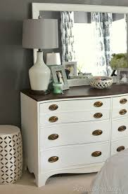Redoing Bedroom Furniture Dresser And Mirror Makeover Master Bedroom Furniture Painted