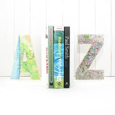 Reggilibri Ikea by Personalised Map Location Letter Bookend