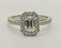 amerikanischer verlobungsring emerald cut ring etsy