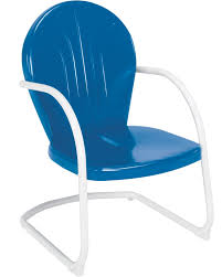 Old Fashioned Metal Outdoor Chairs by Amazon Com Jack Post Bh 20bl Retro Chair Blue Garden U0026 Outdoor