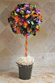 Halloween Candy Crafts by 21 Best Halloween Ribbon Trees U0026 Topiary Images On Pinterest