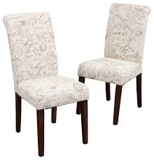 charlotte dining table world market script printed linen dining chairs set of 2 transitional for french