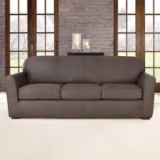 Leather Slipcovers For Sofa Sure Fit Ultimate Stretch Leather Sofa Slipcover