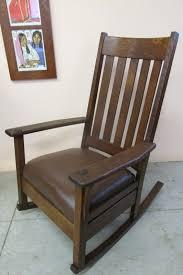Oak Rocking Chair Uk L U0026 J G Stickley Armchair U0026 Oak Craft Rocker Oak Leather