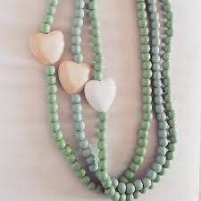 wood beads necklace designs images Long bead necklace with wooden heart hello pretty buy design jpg