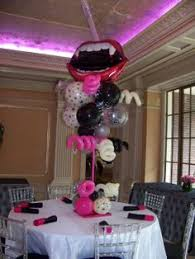 hollywood theme centerpieces with latex u0026 mylar balloons bar