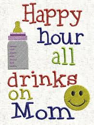 embroidery sayings and phrases happy hours all drinks are on