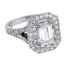 emerald cut diamond engagement rings double halo emerald cut diamond engagement ring mouradian custom