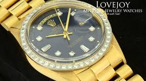 golden rolex rolex mens 18k solid gold president daydate 1803 diamond dial