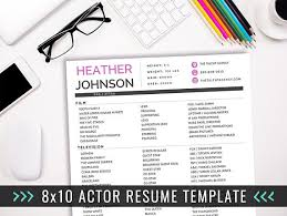 Creative Resume Sample by Actor Resume Template Acting Resume Ideas Creative Resume Actor