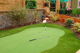 Backyard Putting Green Installation by Quality Putting Green Indoor Putting Greens Pinterest