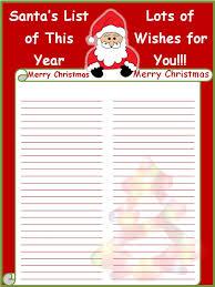 doc 8591100 santa list template u2013 free printable letter to santa