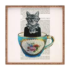 coco de paris cat in a cup square tray deny designs