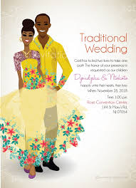 wedding invitations south africa tsonga traditional wedding invitation card