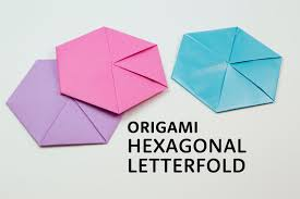 how to fold an envelope how to make a origami hexagonal letterfold using a4 paper