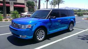 jeep grand cherokee vinyl wrap ford flex blue chrome u2014 incognito wraps