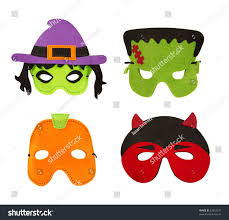 set four halloween felt face masks stock photo 62653597 shutterstock
