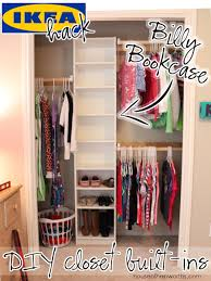 how to organize a closet how to build your own closet built ins using a billy bookcase