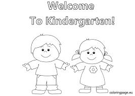 kindergarten coloring free download