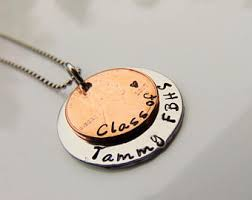 high school class necklaces necklace etsy