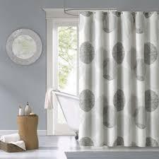 Grey Bathroom Curtains Intelligent Design Shower Curtain 3 Color Options Free